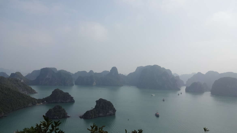 Vietnam, Halong Bay, Titop island view