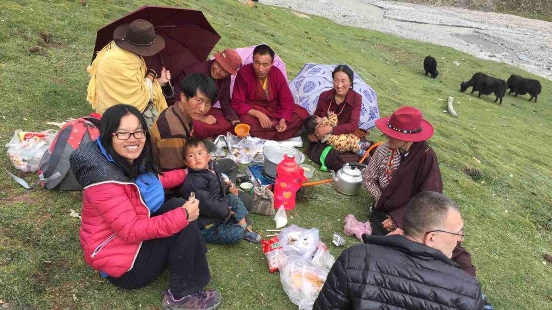 Dinner with local Tibetans in Mt. Amnye Machin- Liebster Award
