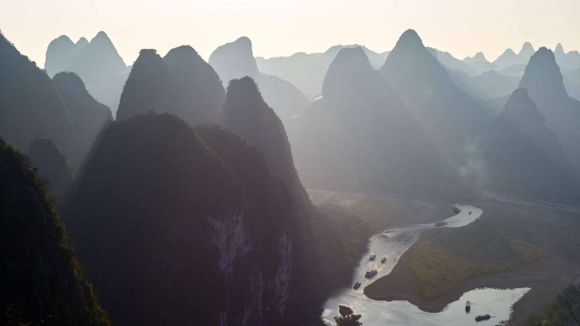Explore South China! Guilin Karst Hills area