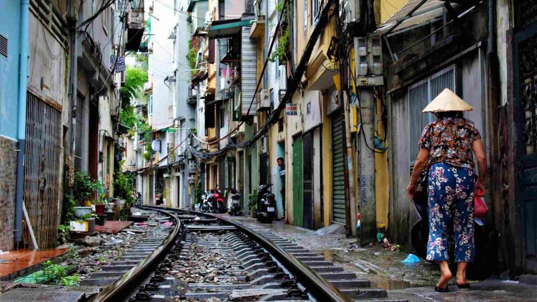 A railway street in Hanoi