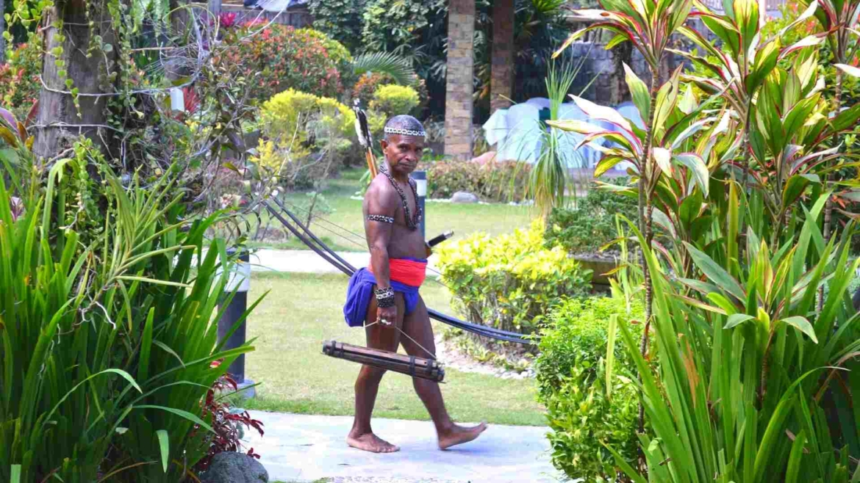 A man from a local Negritos minority, Mindanao