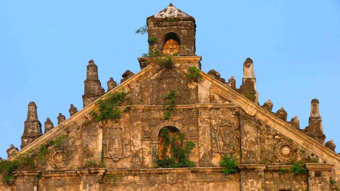 A remnant of an old Spanish church
