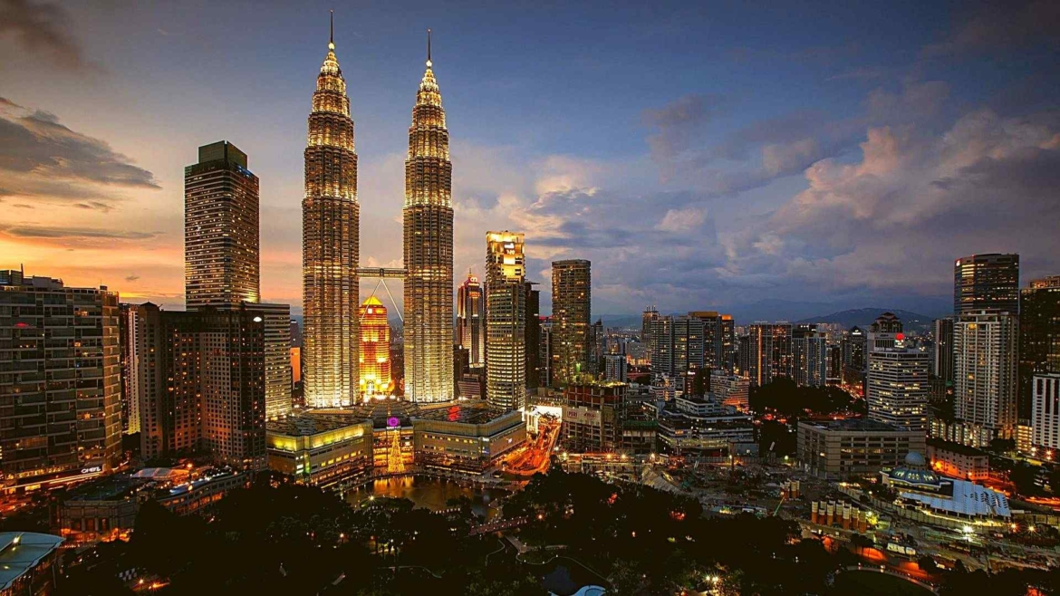 One of the most popular symbols of Malaysia- Petronas Towers in Kuala Lumpur