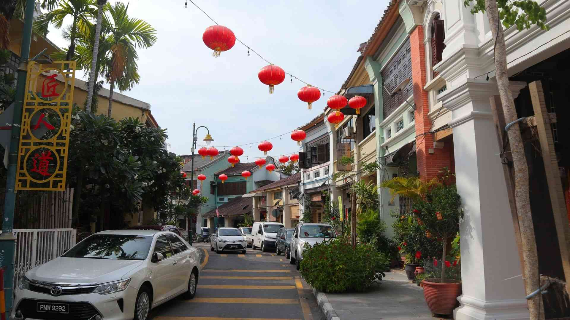 A street in the old center of Georgetown, Penang