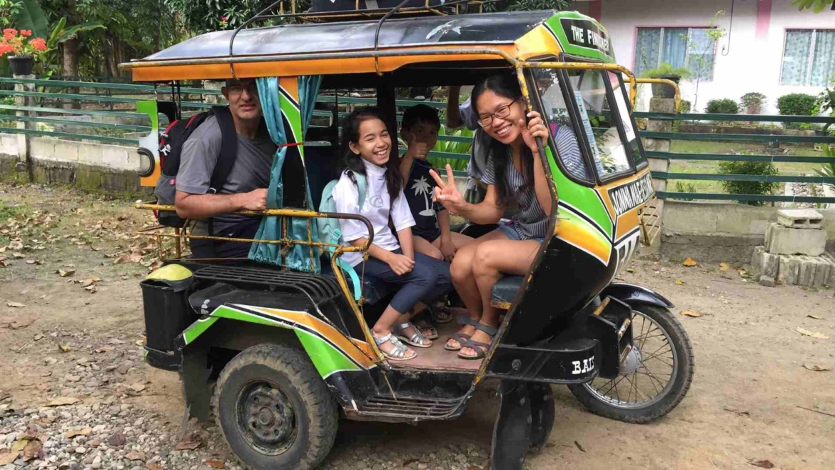 Local transport- in a tricycle